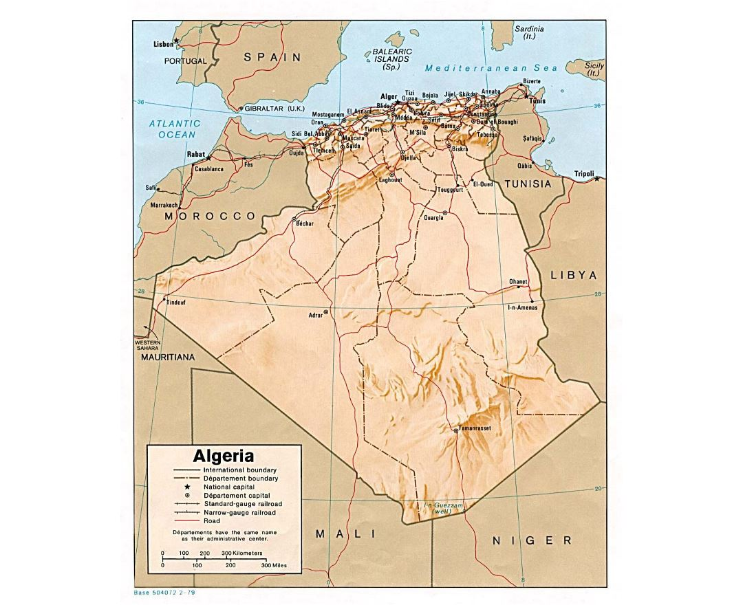 Maps of Algeria | Collection of maps of Algeria | Africa | Mapsland ...