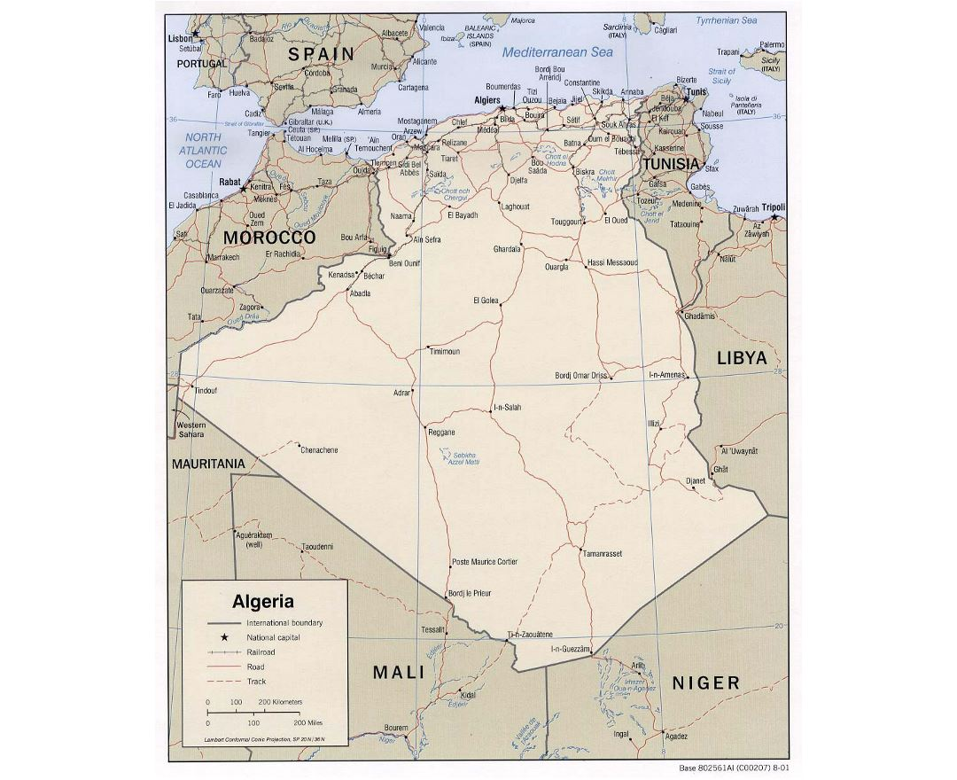 Maps of Algeria | Collection of maps of Algeria | Africa | Mapsland Cities Map Of Algeria on