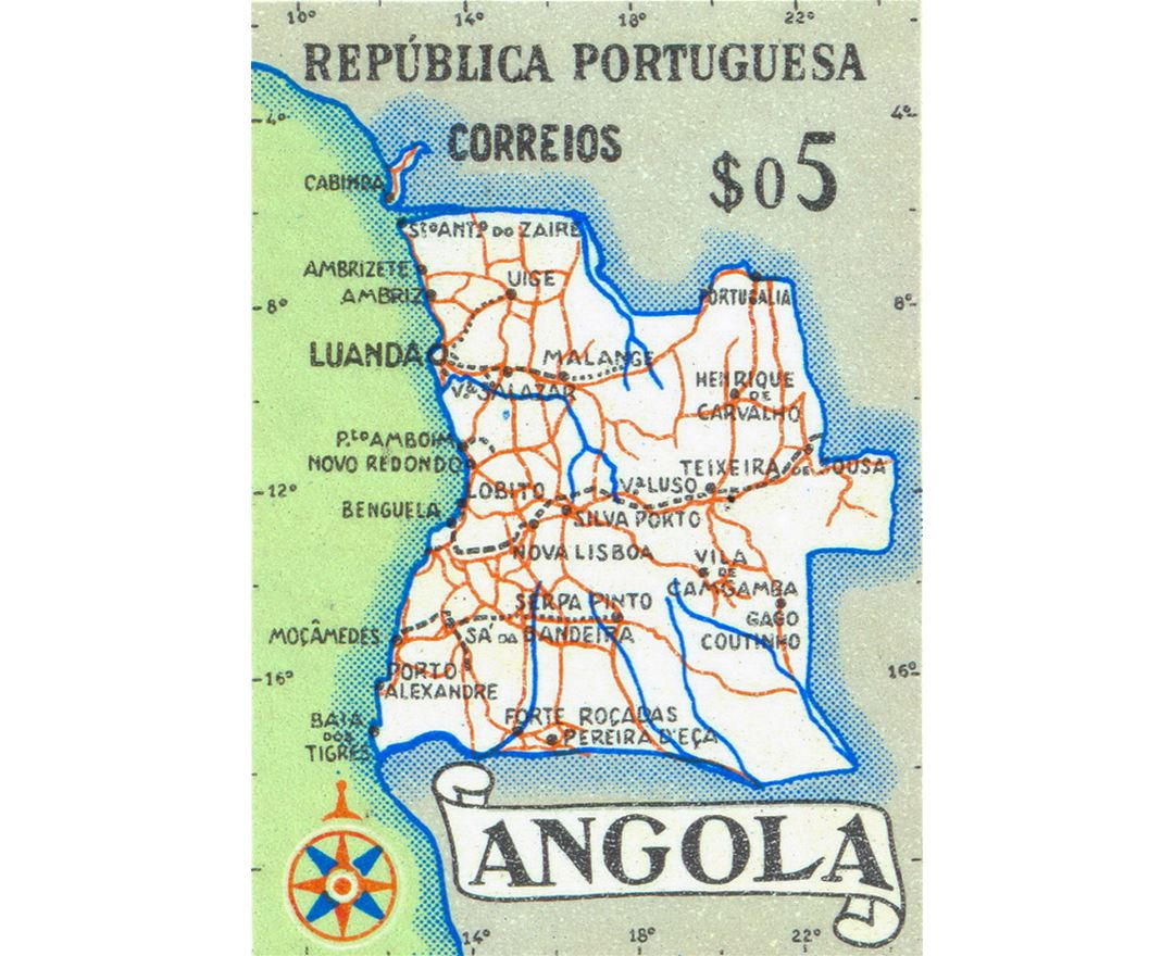 Detailed map of Angola
