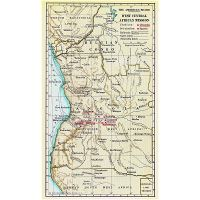 Detailed post stamp map of Angola   Angola   Africa