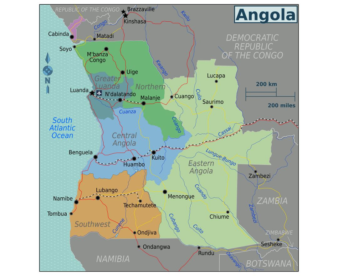 Picture of: Maps Of Angola Collection Of Maps Of Angola Africa Mapsland Maps Of The World