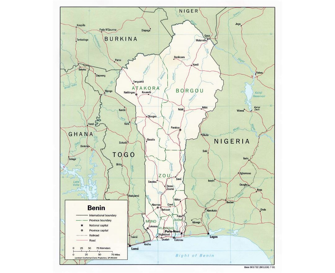 Maps of Benin | Coll