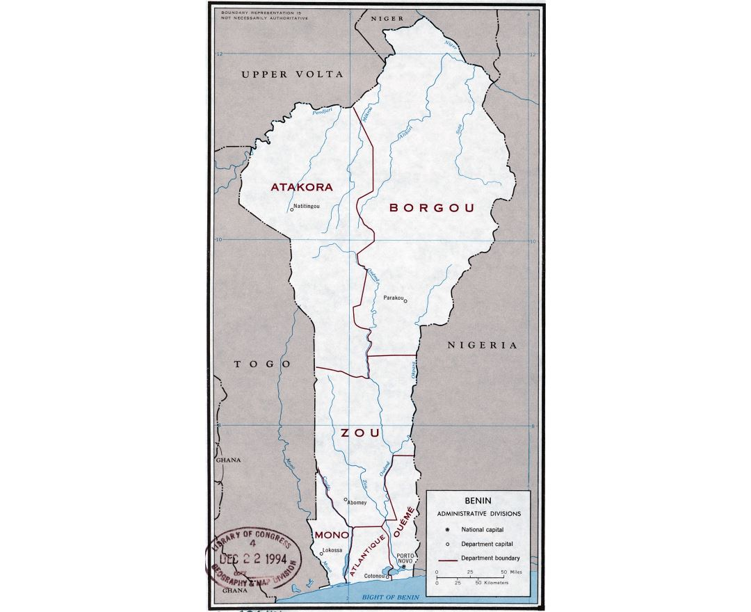 Maps of Benin Detailed map of Benin in English Tourist map