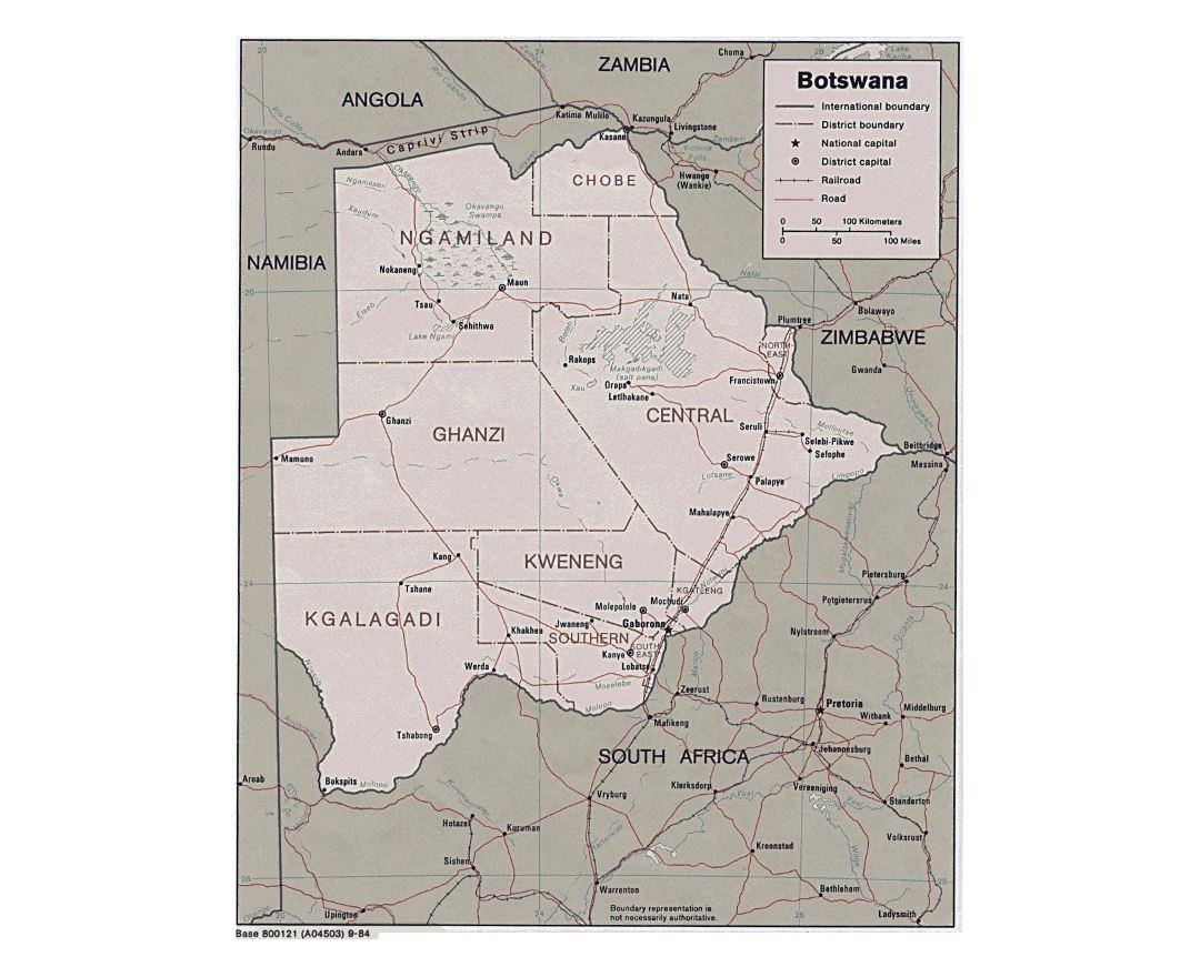 Maps of Botswana Detailed map of Botswana in English Tourist map