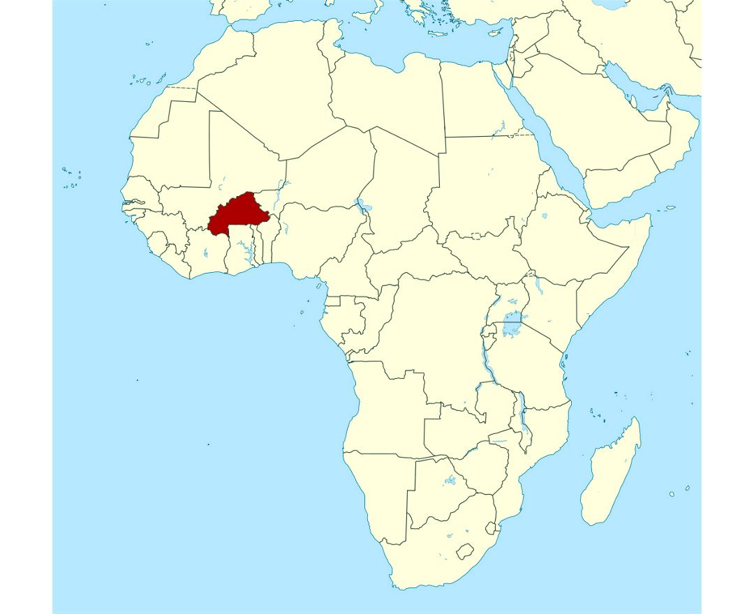 Maps of Burkina Faso | Collection of maps of Burkina Faso | Africa