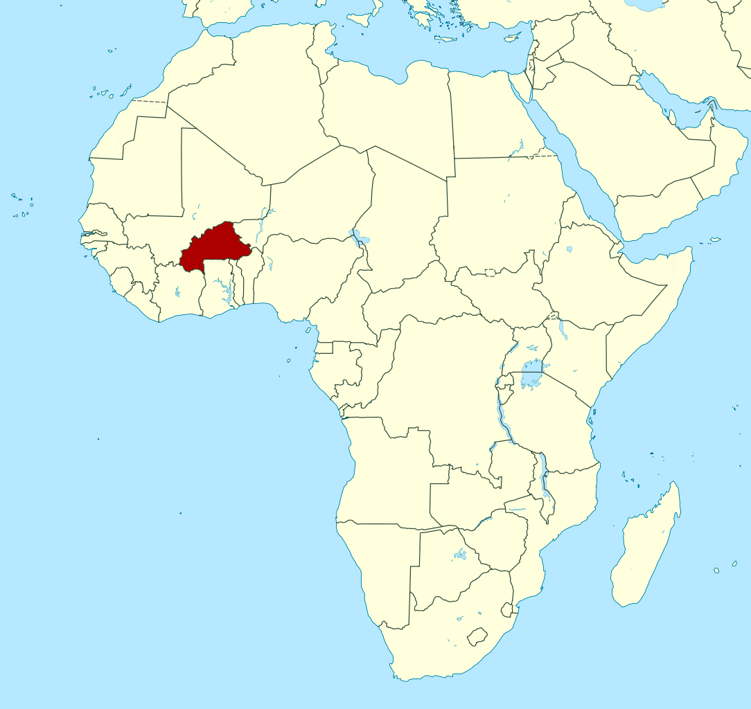 Detailed location map of Burkina Faso in Africa | Burkina Faso