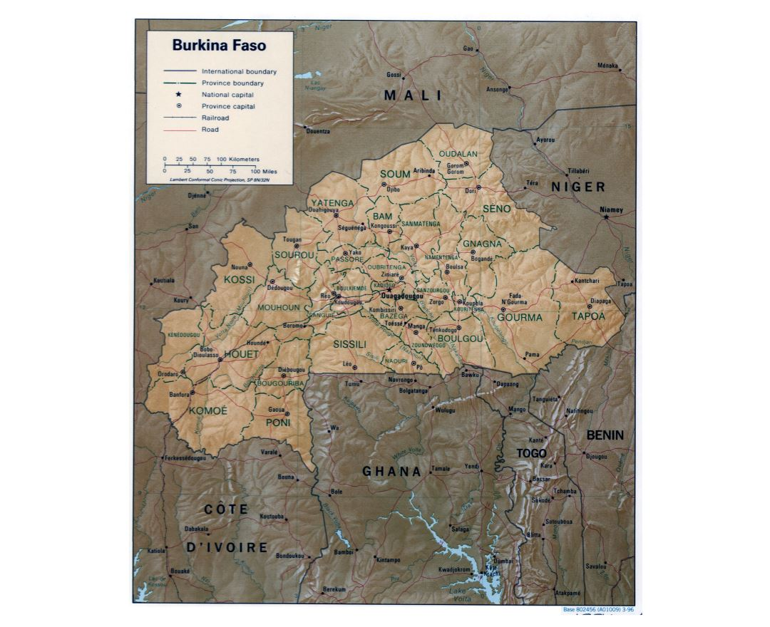 Maps of Burkina Faso Detailed map of Burkina Faso in English