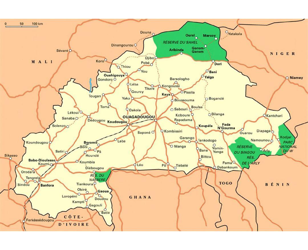 Maps Of Burkina Faso Detailed Map Of Burkina Faso In English - Burkina faso map