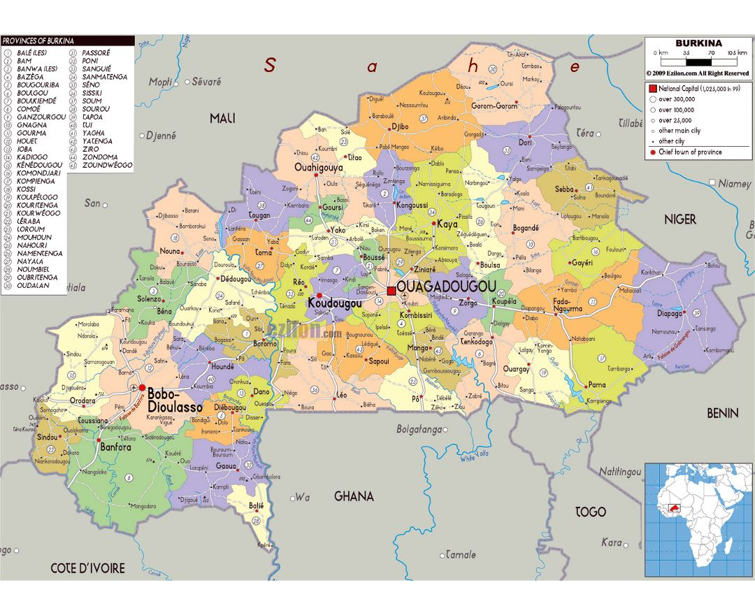 Maps Of Burkina Faso Collection Of Maps Of Burkina Faso Africa Mapsland Maps Of The World