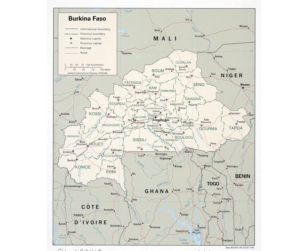 Maps of Burkina Faso Detailed map of Burkina Faso in English