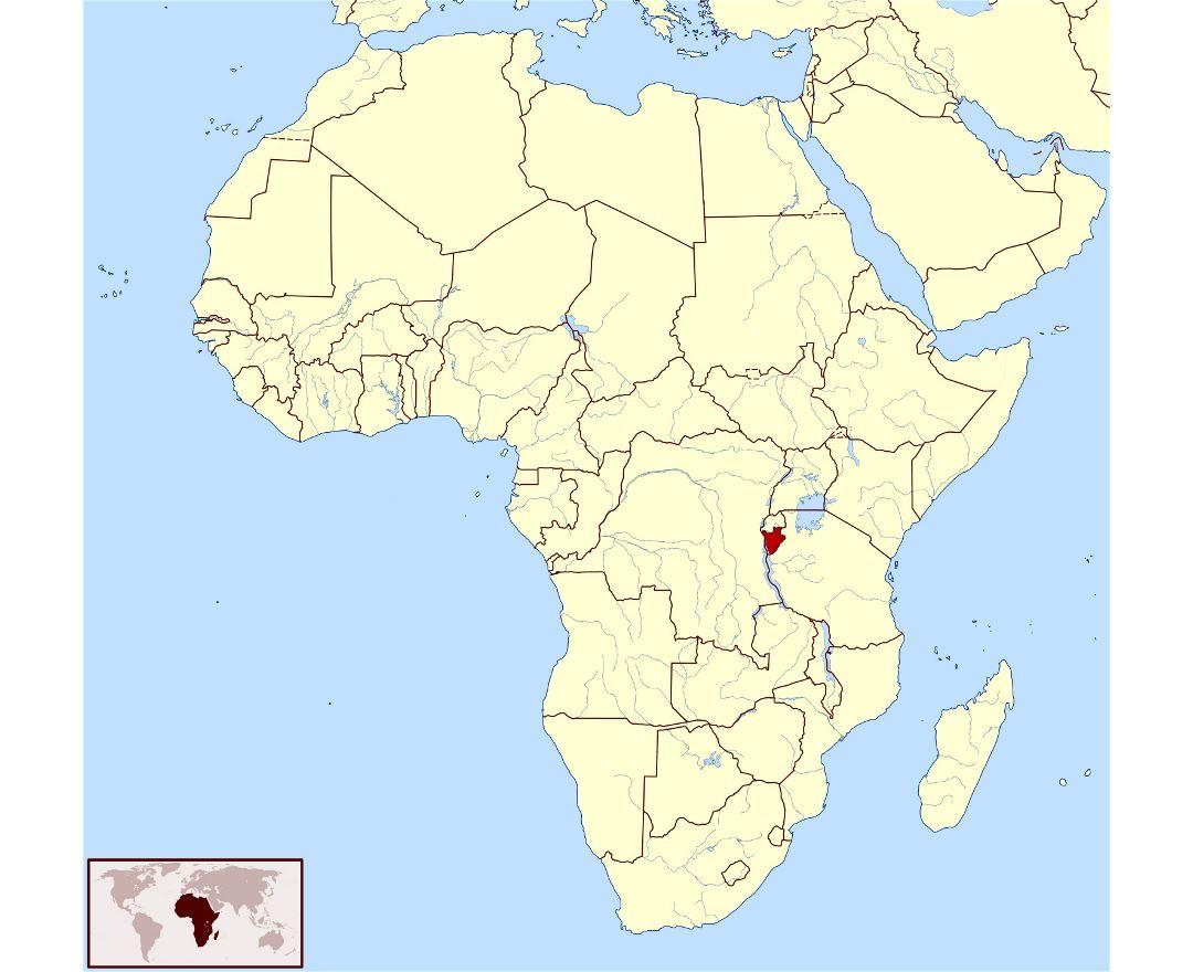 Maps of Burundi Detailed map of Burundi in English Tourist map