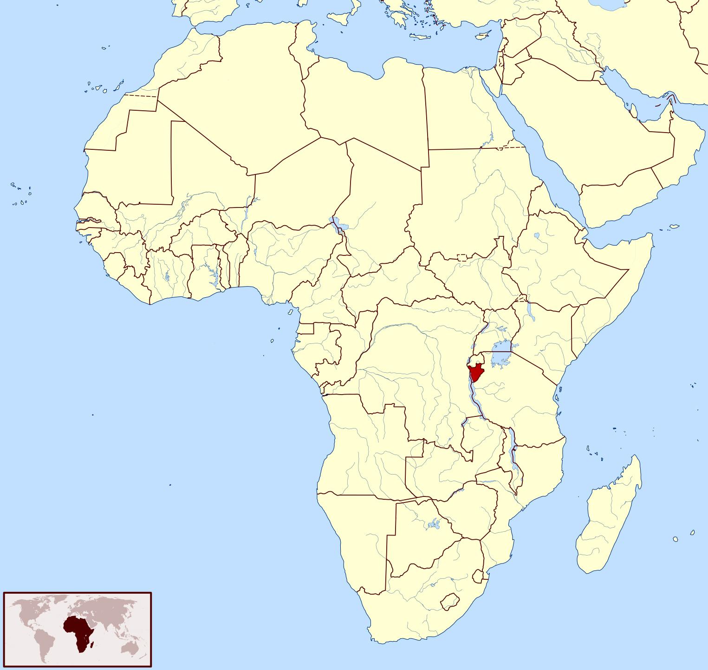 Large Location Map Of Burundi In Africa Burundi Africa - Where is burundi on a world map