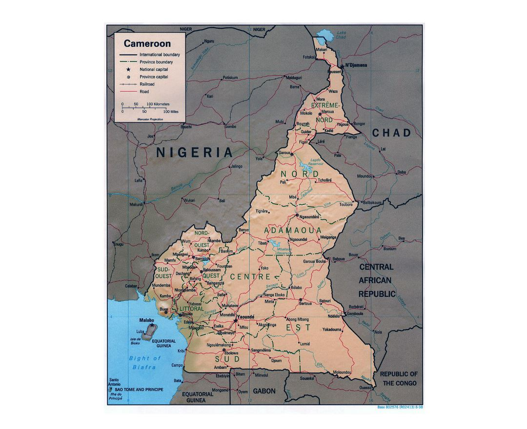 Maps of Cameroon Detailed map of Cameroon in English Tourist map