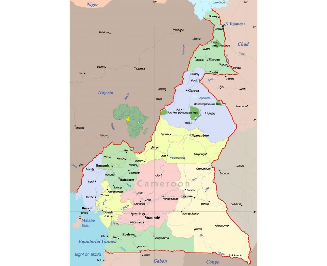 Maps of Cameroon | Collection of maps of Cameroon | Africa ...