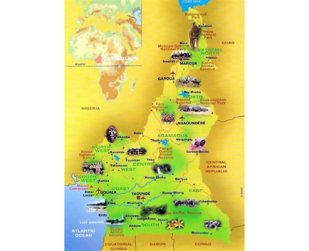 Maps of Cameroon | Collection of maps of Cameroon | Africa ... Cameroon Map on