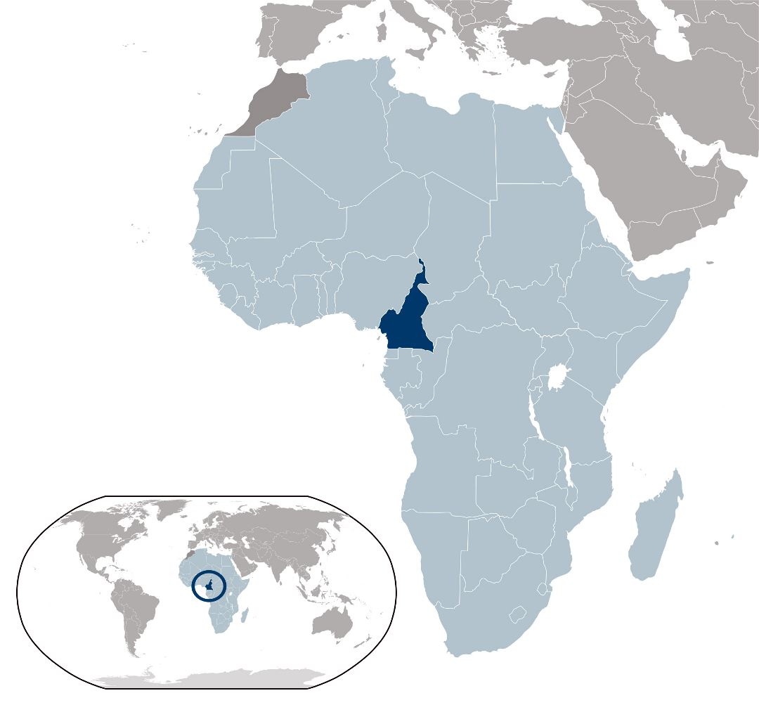Large location map of Cameroon