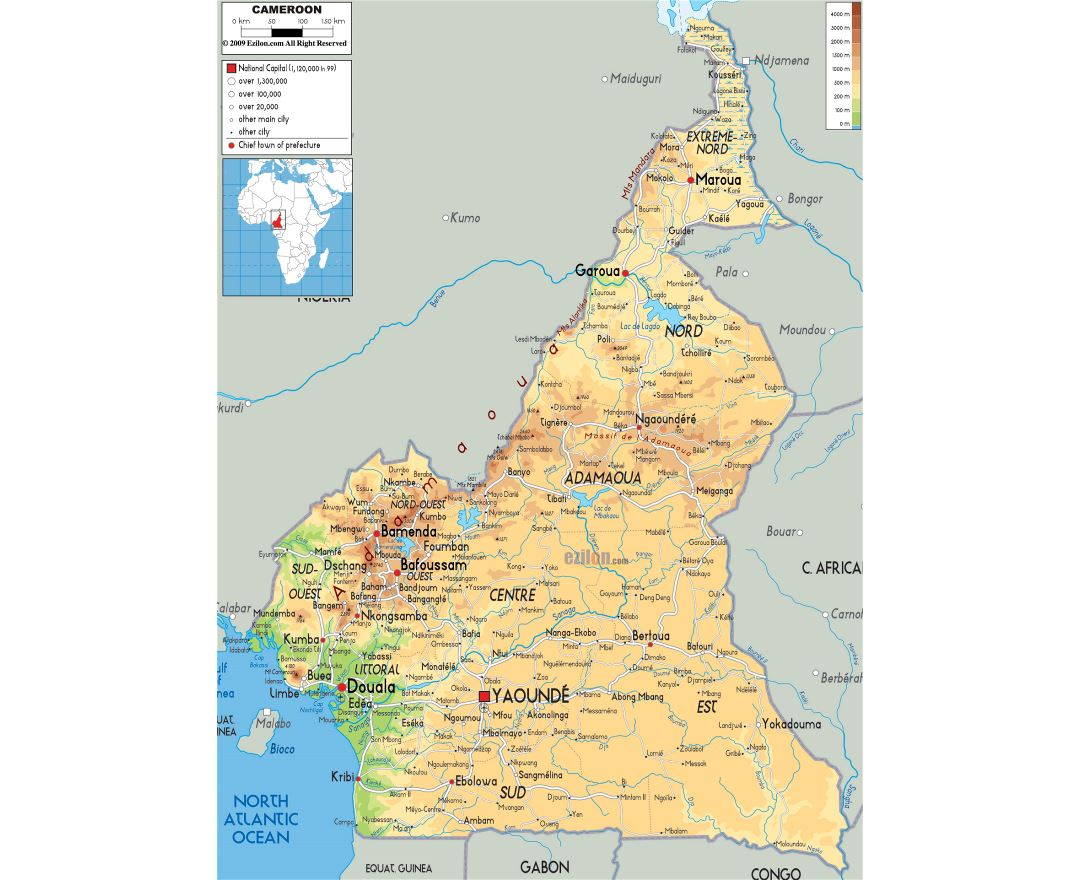 Map Of Africa Cameroon.Maps Of Cameroon Collection Of Maps Of Cameroon Africa