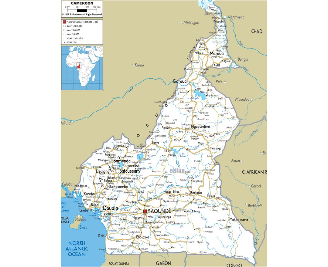 Maps of Cameroon   Collection of maps of Cameroon   Africa ...