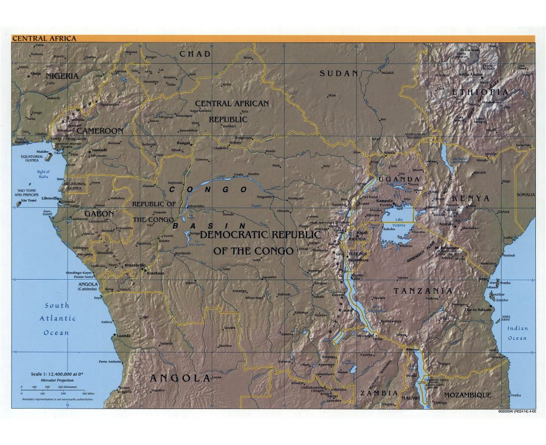 Maps of Central Africa Central Africa maps Collection of