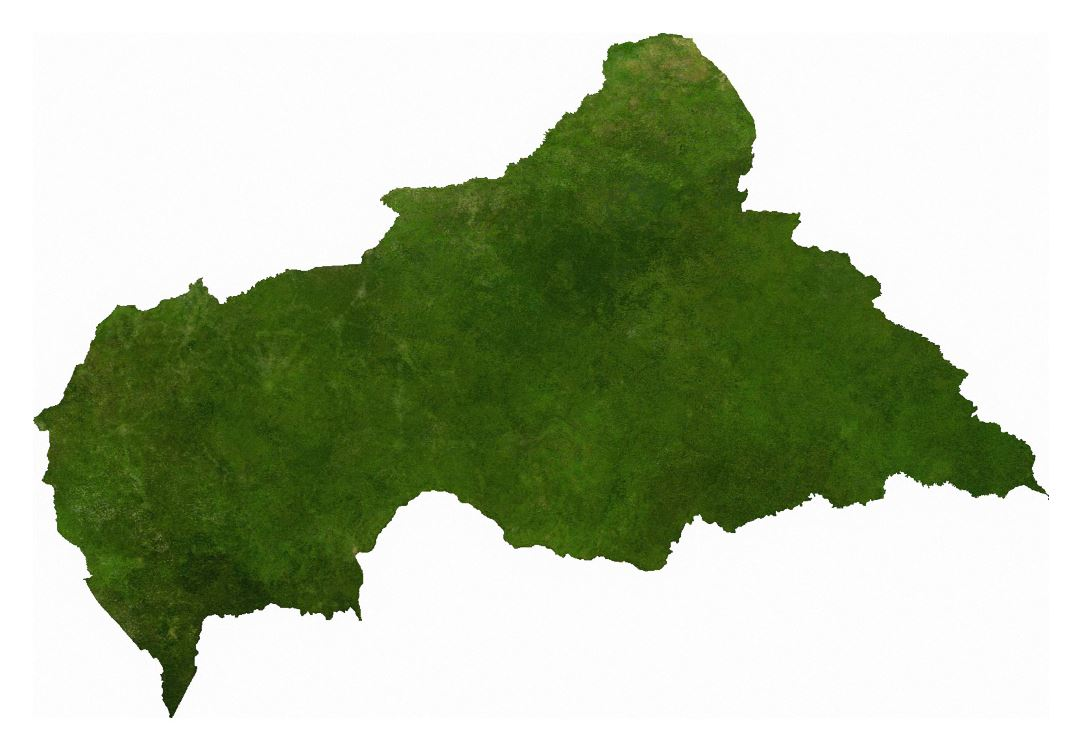 Large satellite map of Central African Republic