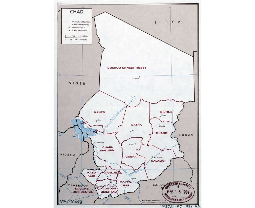 Maps of Chad Detailed map of Chad in English Tourist map travel