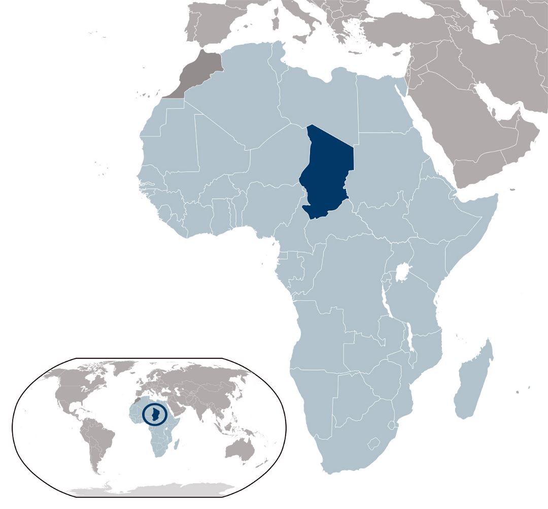 Large location map of Chad