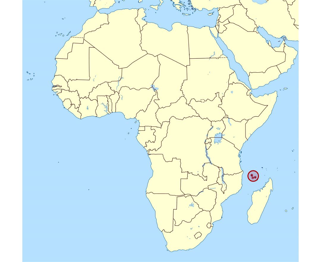 Maps Of Comoros Detailed Map Of Comoros In English Tourist Map - Comoros map