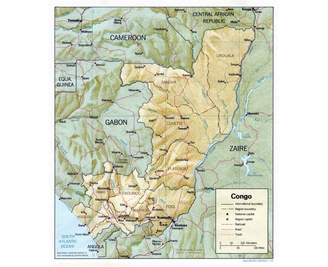 Maps of Congo Detailed map of Congo in English Tourist map
