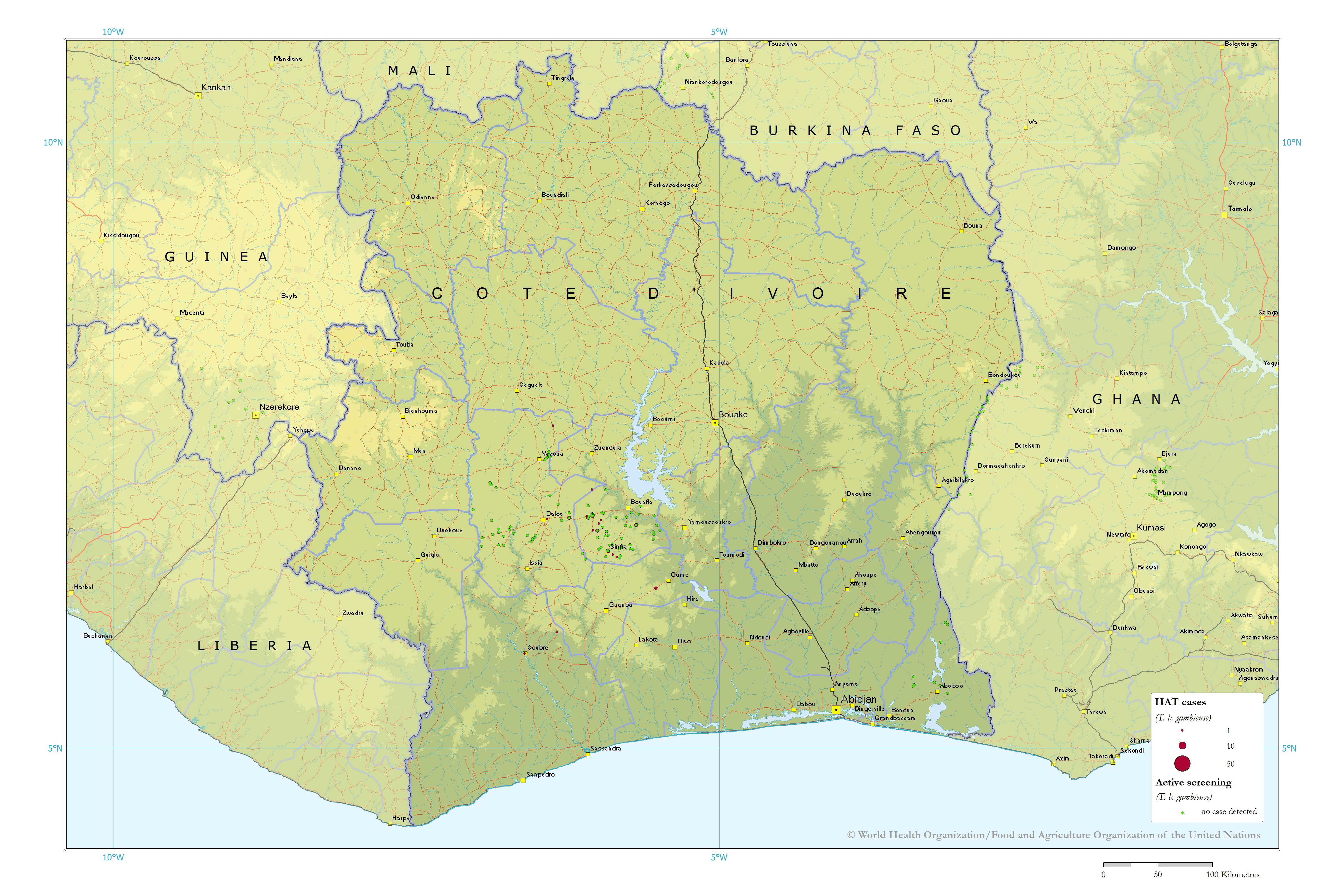 Large detailed map of Cote dIvoire Cote dIvoire Africa