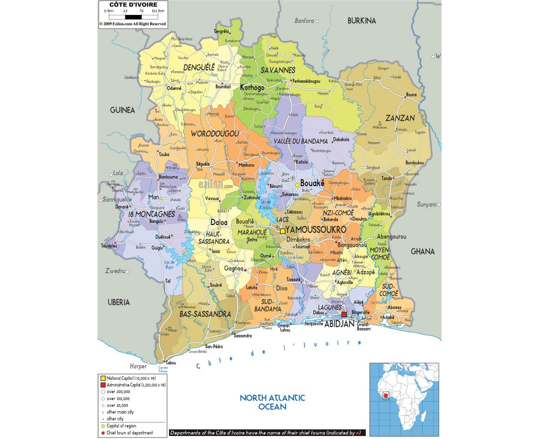Maps Of Cote D Ivoire Collection Of Maps Of Cote D Ivoire Africa Mapsland Maps Of The World