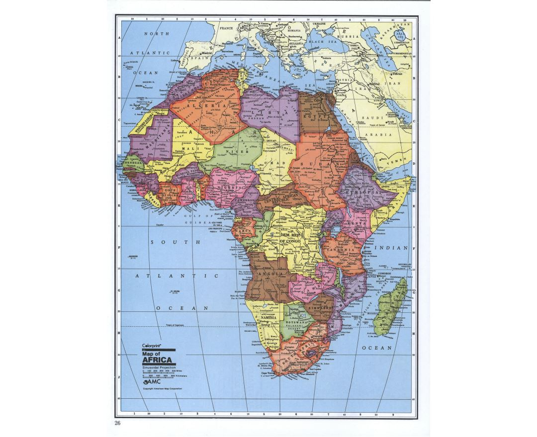 Maps of Africa and African countries Political maps Road and Railways maps