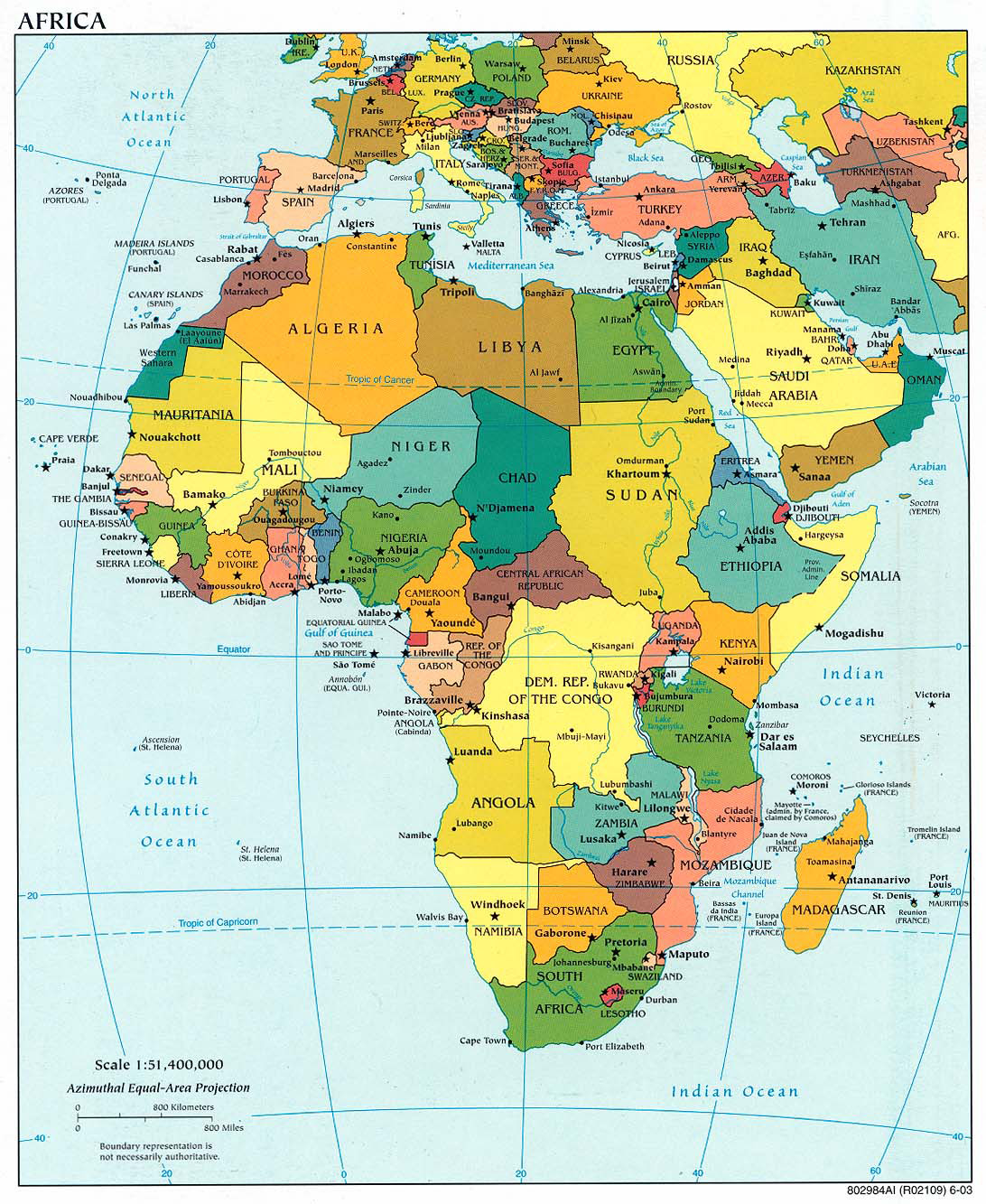 Map Of Africa Detailed.Detailed Political Map Of Africa With Capitals 2003