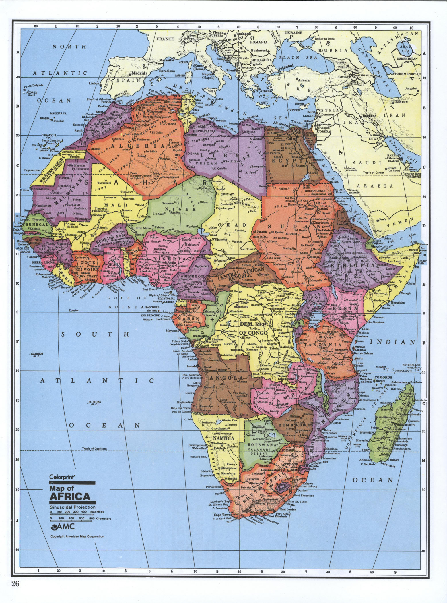 Detailed Political Map Of Africa Africa Mapsland Maps Of The World