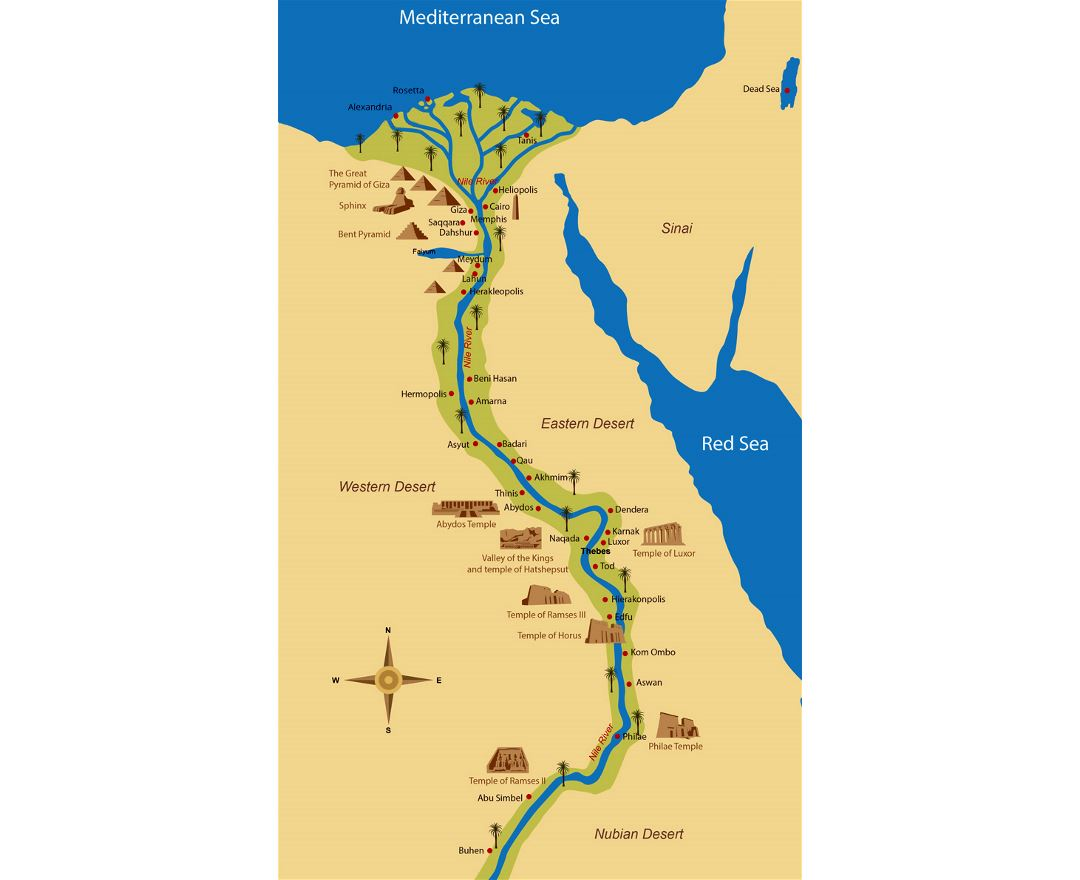 Maps Of Egypt Detailed Map Of Egypt In English Tourist Map - Map of fayoum egypt