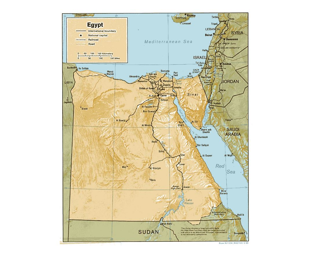 Maps Of Egypt Detailed Map Of Egypt In English Tourist Map - Detailed map of egypt and jordan