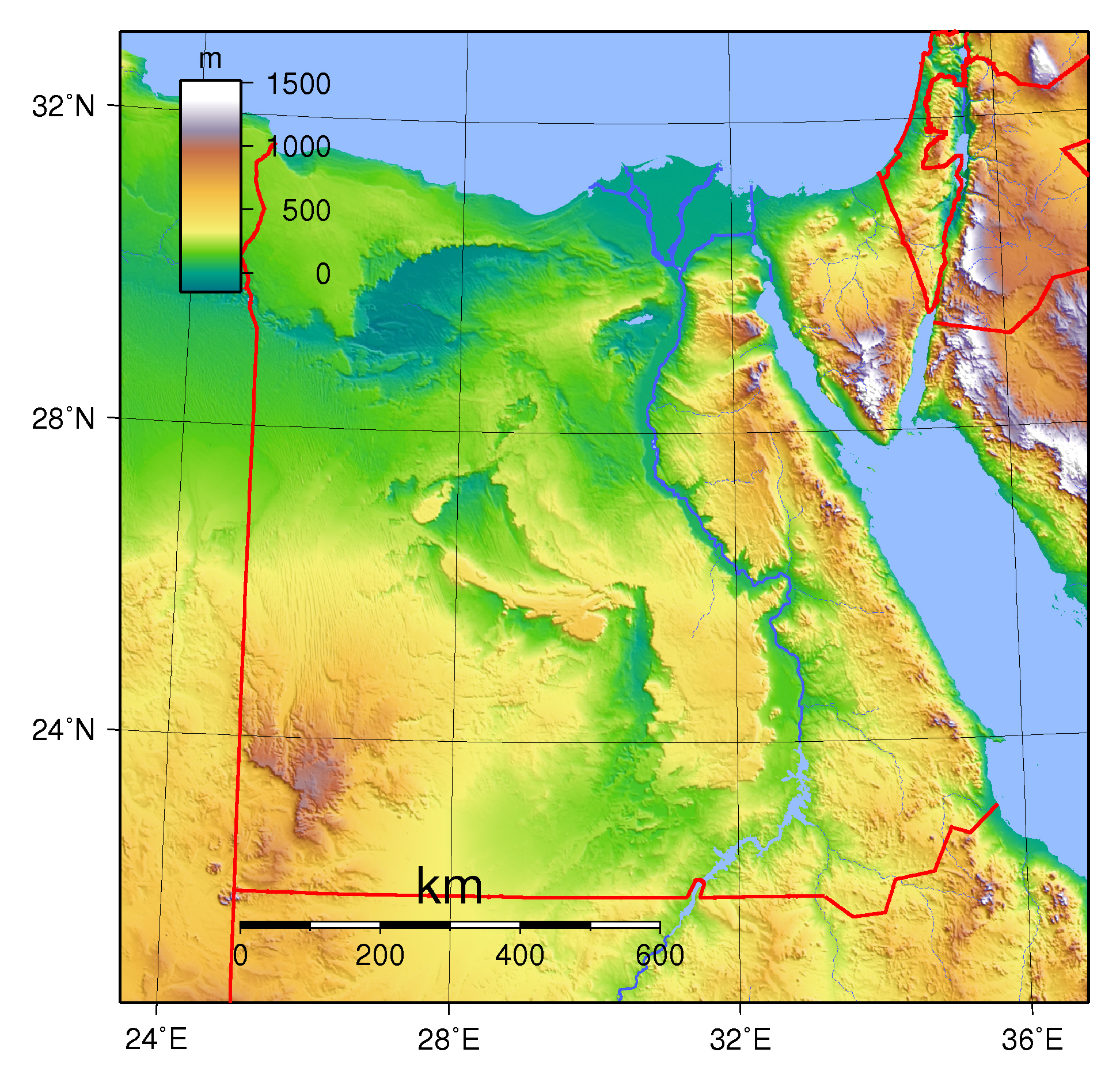 Large Physical Map Of Egypt Egypt Africa Mapsland Maps Of - Is egypt in africa