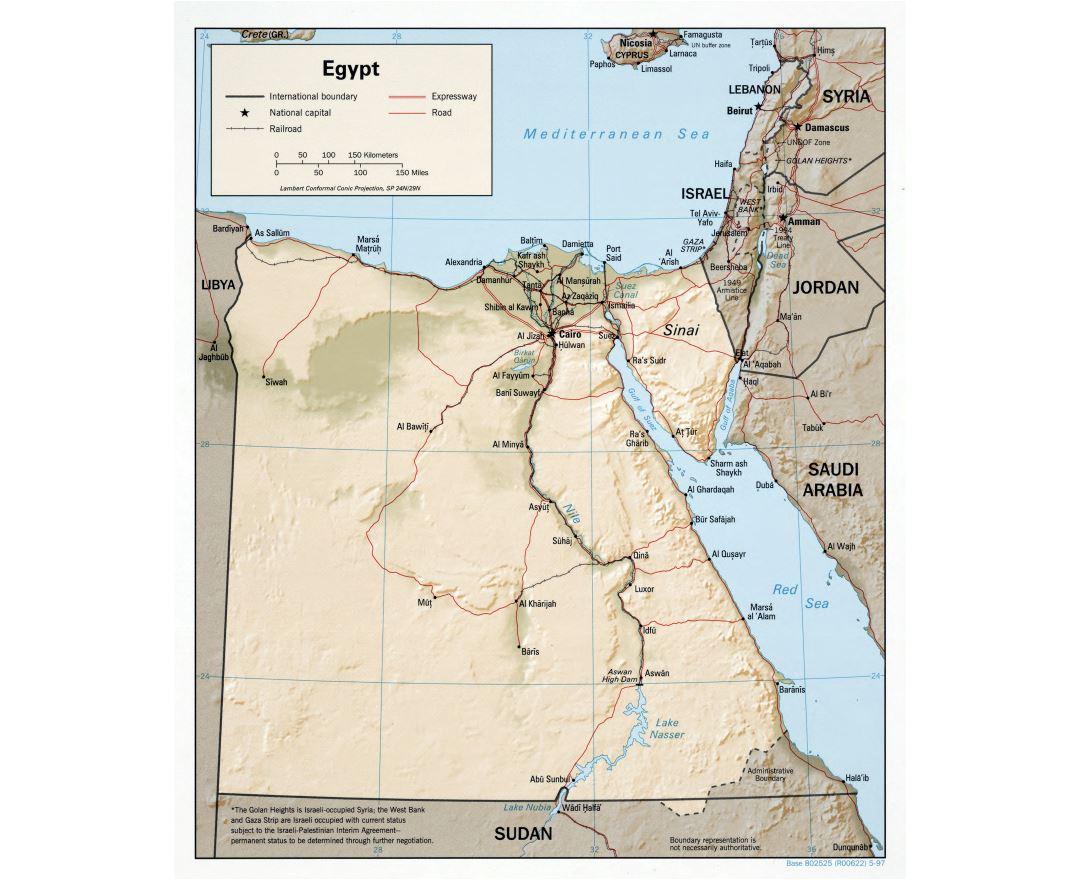 Maps of Egypt Detailed map of Egypt in English Tourist map