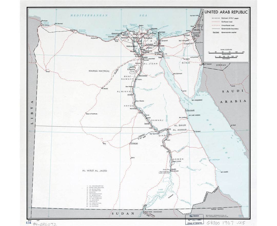 Maps of Egypt | Collection of maps of Egypt | Africa | Mapsland ...