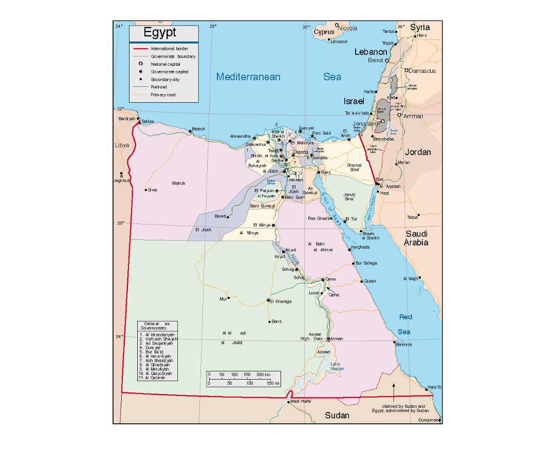 Maps Of Egypt Detailed Map Of Egypt In English Tourist Map - Map of egypt with major cities