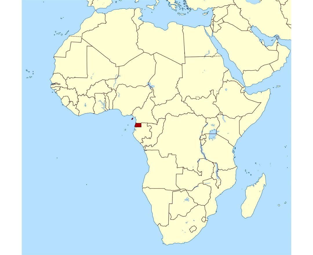 africa map equatorial guinea