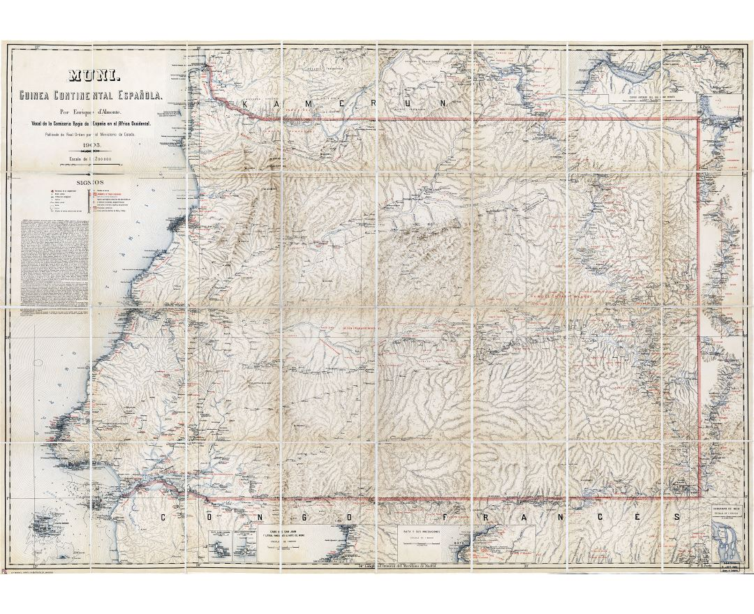 Maps of Equatorial Guinea | Collection of maps of Equatorial ... Map Of Rio Muni on map of gozo island, map of hainan island, map of symi, map of isle of pines, map of bhutan, map of tahaa, map of gambia, map of togo, map of algeria, map of tristan da cunha, map of reunion, map of singapore, map of banks island, map of mongolia, map of ascension, map of latvia, map of central african republic, map of kalymnos, map of southwest nigeria, map of bahrain,