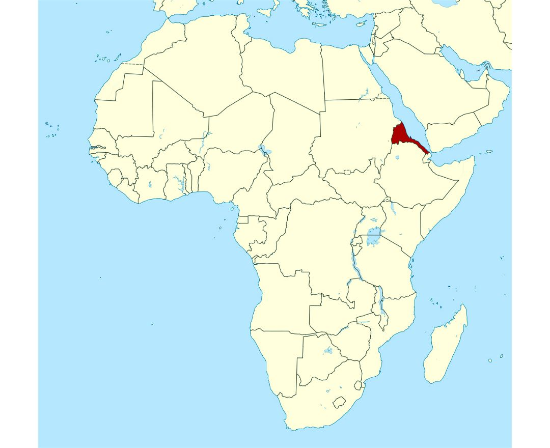 Maps of eritrea detailed map of eritrea in english tourist map detailed location map of eritrea in africa gumiabroncs Gallery