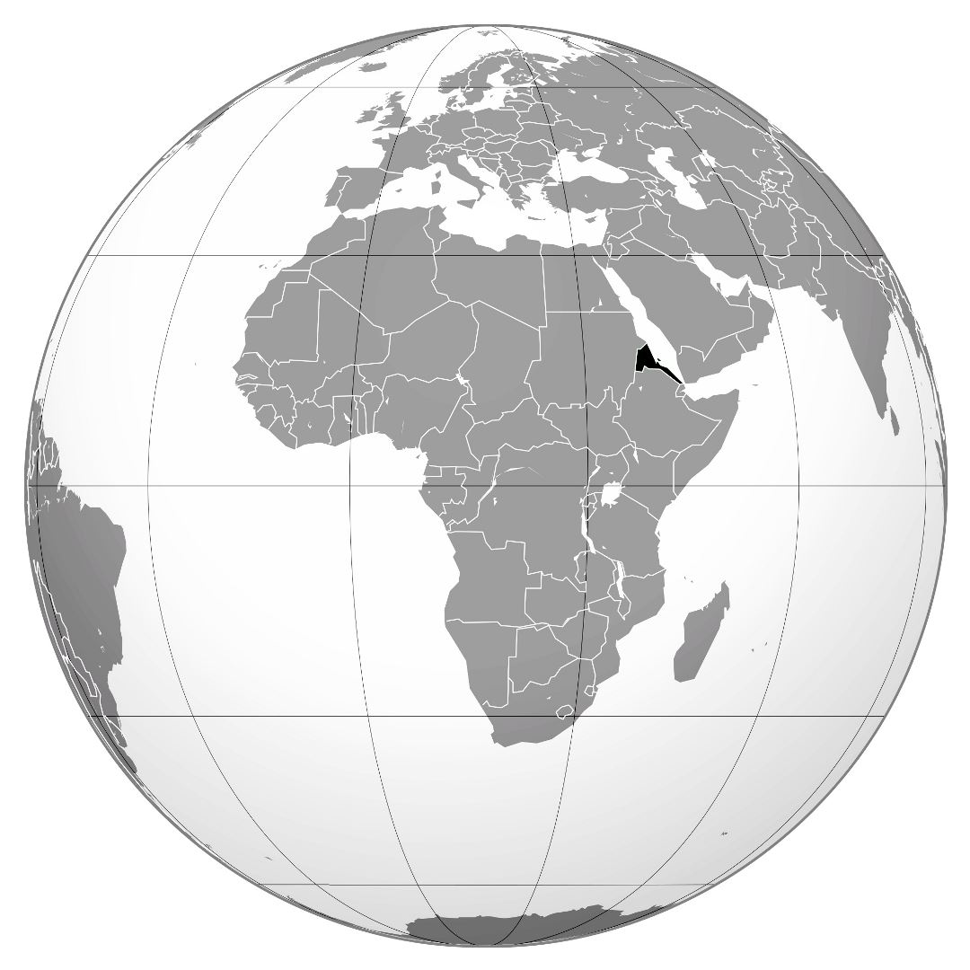 Large location map of Eritrea in Africa