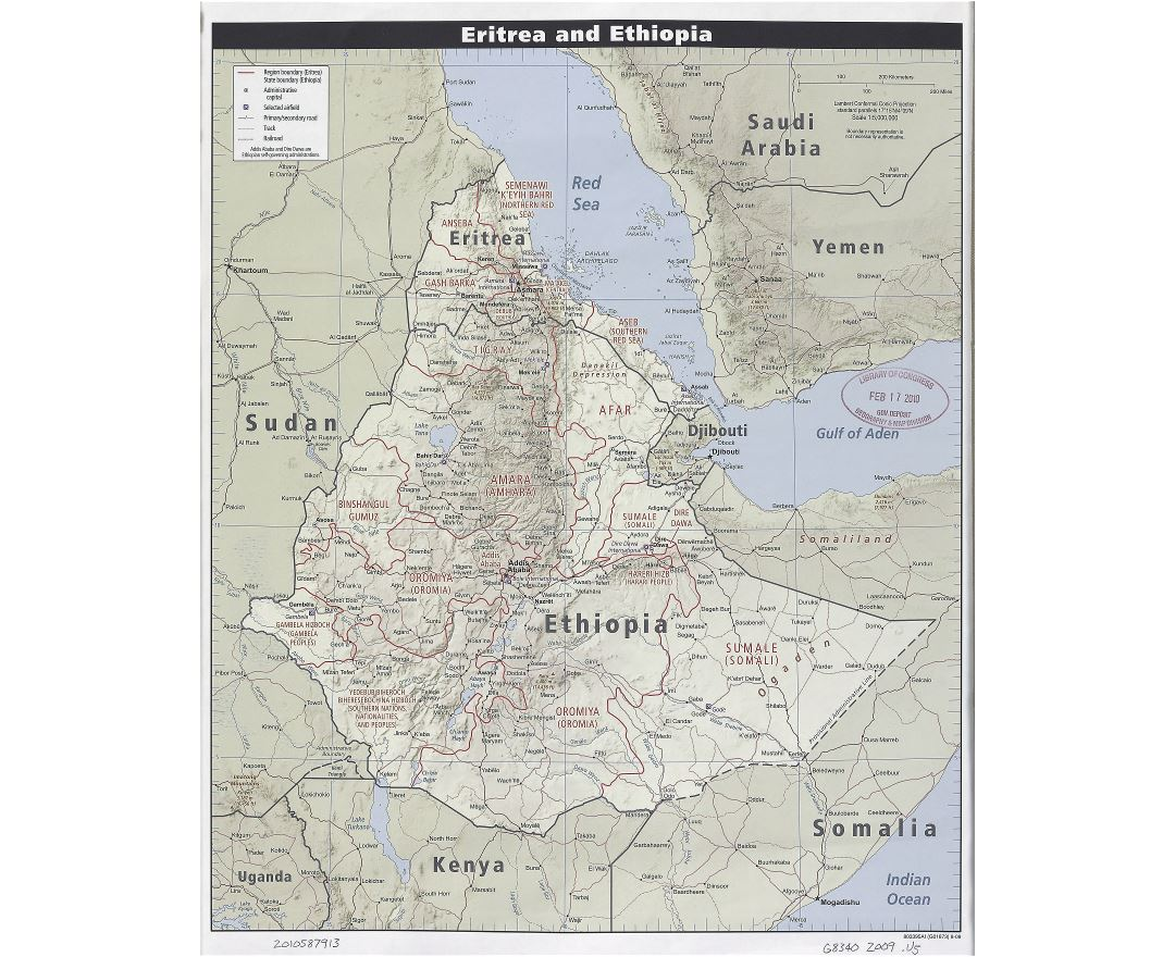 Maps of Eritrea Detailed map of Eritrea in English Tourist map