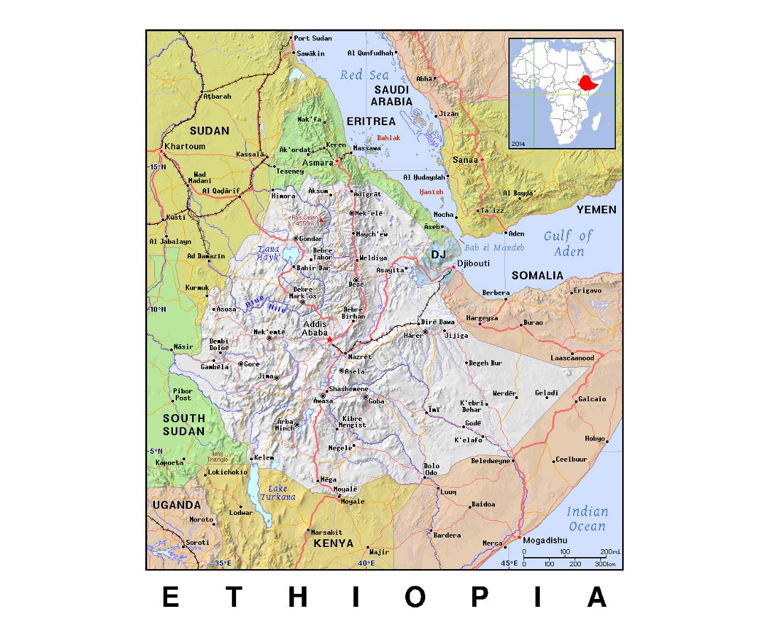 Maps Of Ethiopia Collection Of Maps Of Ethiopia Africa