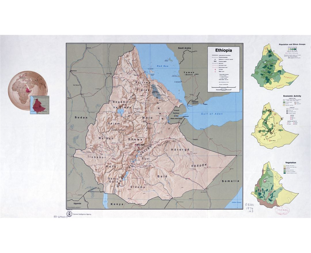 Maps of ethiopia detailed map of ethiopia in english tourist map in high resolution detailed country profile map of ethiopia 1976 gumiabroncs Gallery