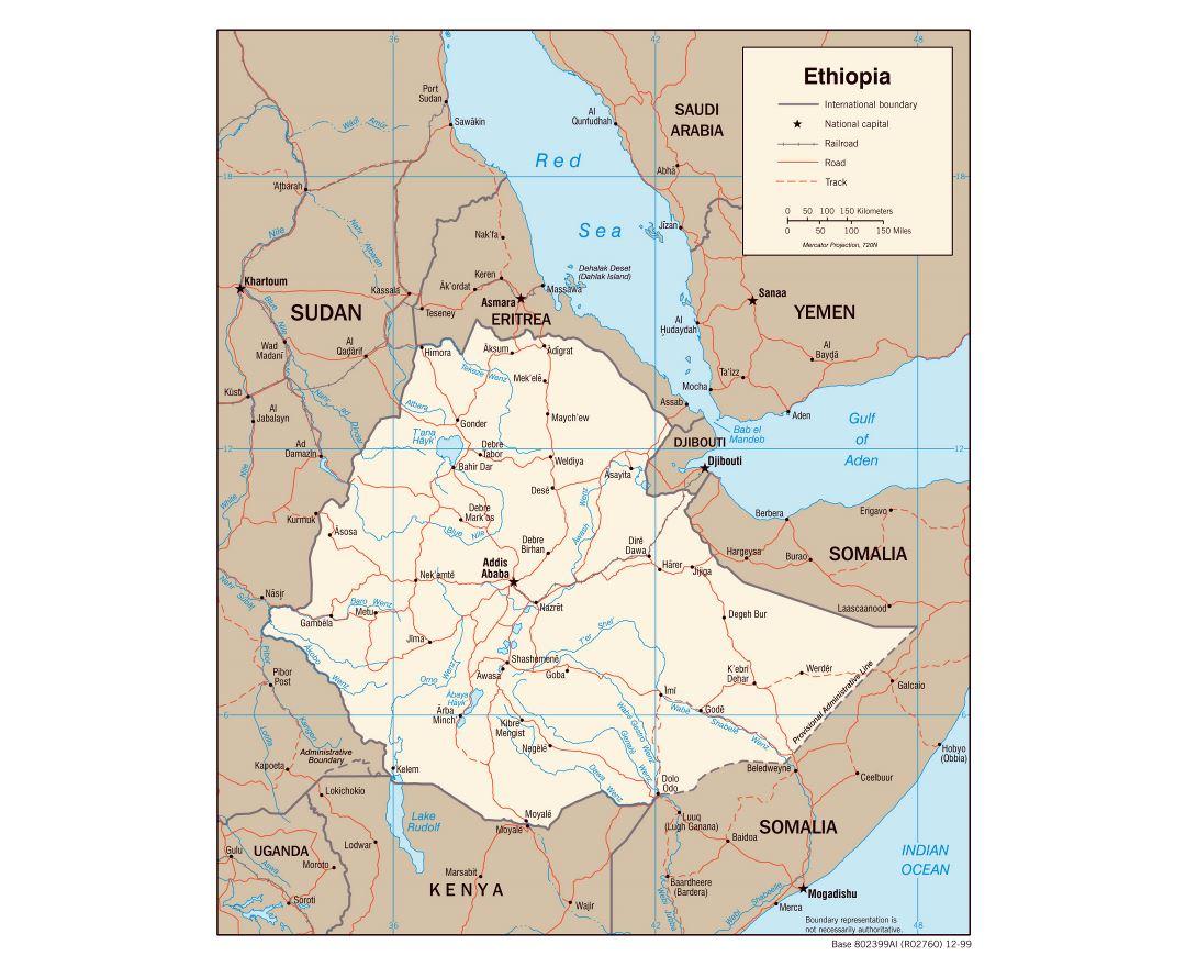 Maps of Ethiopia Detailed map of Ethiopia in English Tourist map