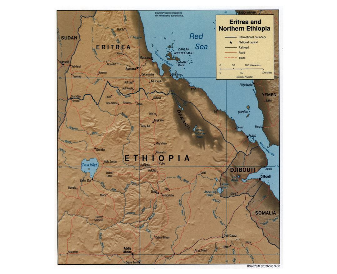 Maps of Ethiopia Detailed map of Ethiopia in English Tourist map