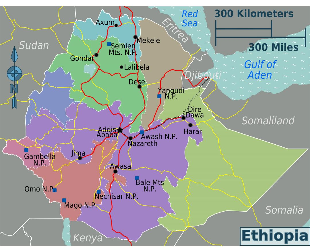 Maps of Ethiopia | Collection of maps of Ethiopia | Africa ...