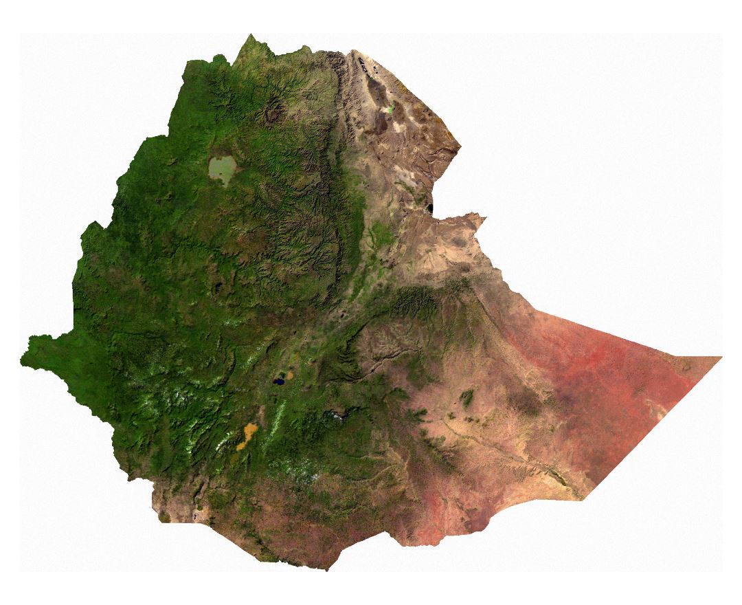 Maps of ethiopia detailed map of ethiopia in english tourist map large satellite map of ethiopia gumiabroncs Image collections